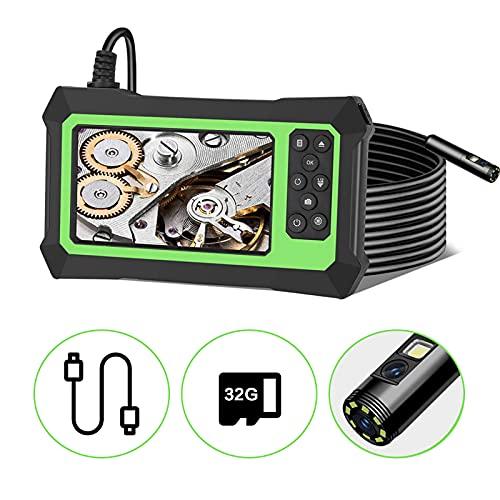 GJCrafts Endoscopio a Doppia Lente 8 LED Regolabili Doppia Lente 1080P Telecamera per endoscopio HD da 4,3 Pollici con 5 m Cavo 3000 mAh Batteria per riparazioni Auto di ispezione idraulica