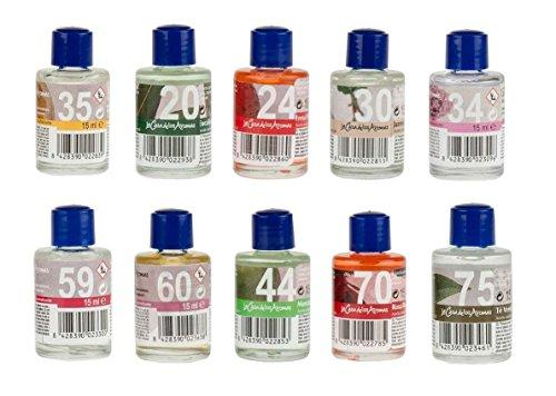 Casa de los aromas Huile Essentielle lot 10 SENTEURS 150ml AROMES pour diffuseur Jasmin thé Vert