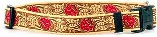 طوق للكلاب من الجلد باللون الأحمر الوردي - مقاس كبير من 45.72 سم إلى 71.12 سم - صنع في الولايات المتحدة الأمريكية