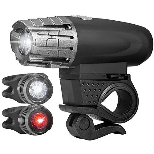 WYW Luzde Bicicleta,Batería de 1200 mAh,Luz de Bicicleta con Detección Automática,Luz Bicicleta LED Recargable USB,para Carretera y Montaña-Seguridad para la Noche,1