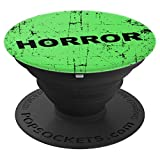 Distressed Horror Movie Green VHS Rental Gift Movie Lovers PopSockets Grip and Stand for Phones and Tablets