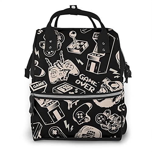 ZhouWE Joystick Mummia Bag Pannolino Tote Borse Grande Capacità Pannolini Baby Bag Modello Moda Mummia Zaino