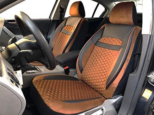 Sitzbezüge K-Maniac für Suzuki SX4 S-Cross | Universal schwarz-braun | Autositzbezüge Set Vordersitze | Autozubehör Innenraum | V2010182 | Kfz Tuning | Sitzbezug | Sitzschoner