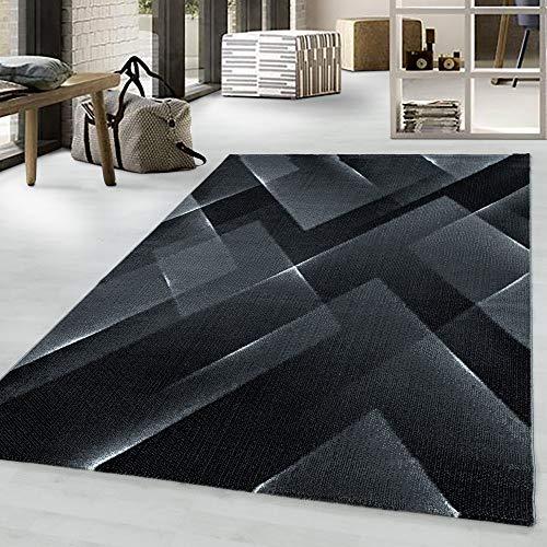 Costa Trend - Tappeto con motivo geometrico, 200 x 290 cm, colore: Nero