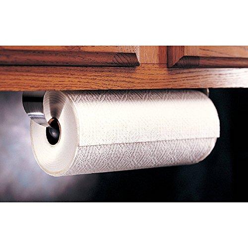 Prodyne Under Cabinet Paper Towel Holder, Silver and Black