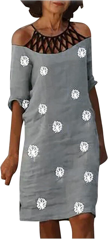 azrian Summer Casual Dress Women wholesale Shoulder Cold Holl Short Sleeve Popularity