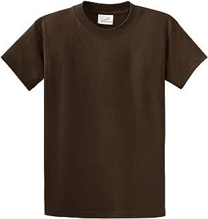 Mens Big & Tall Heavyweight 100% Cotton Short Sleeve T-Shirt. LT-4XLT