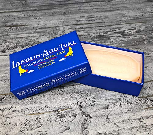 Victoria Lanolin Agg Tval Eggwhite Gesichtspflege Seife 1,7 Unzen
