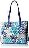 Vera Bradley womens Bag Vera Bradley Women s Signature Cotton Commuter Tote Totes Santiago with Navy One Size, Santiago Navy, One Size US