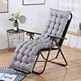 XCTLZG Cojines gruesos para sillas de jardín de 8 cm, suaves y cómodos para sofá de madera, cojines para tumbonas de jardín con correa antideslizante