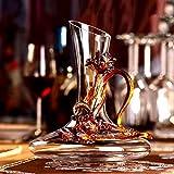 Copas de vino tinto con esmalte hecho a mano, regalo de cumpleaños para mujeres, madres, amigas, amantes del día de la madre (navegador de resaca de iris dorado (lite))