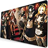 yongheng Overlord Mouse pad Laptop Large Desk mat Overlord Albedo playmat Anime Gaming Mouse pad 22 (60cm×35cm)