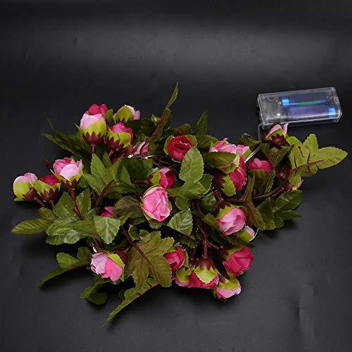 Cadena de Luces LED, Cadena de Luces LED de Flores, Simulación Ratán Celebraciones Festivas Decoración Decoración de la habitación Exterior para Bodas Decoración Fiestas Decoración Interior