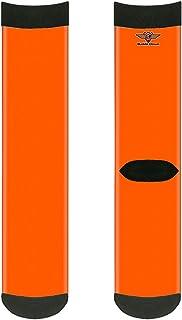 جوارب للجنسين من باكل-داون، لون برتقالي نيون، متعددة الألوان