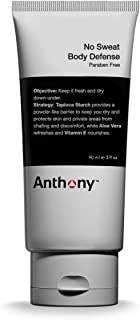 Anthony No Sweat Body Defense, Anti-Chafe Talc Free Cream To Powder Lotion, Contains Tapioca Starch, Aloe Vera, and Vitamin E, Keeps You Dry, Protects Skin From Sweating, Chafing & Discomfort