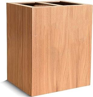 Zhicaikeji Poubelle 20 l en bois pour dortoir, chambre à coucher, bureau (couleur : B, dimensions : 23 x 27 x 33 cm)