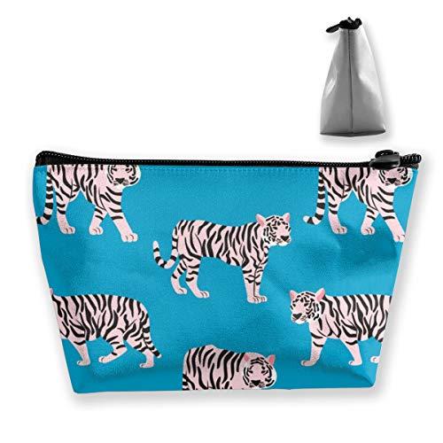 Multi-Functional Print Trapezoidal Storage Bag for Female Creative Tiger