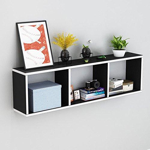 WLH- Creative wandrekken Muur hangkasten Bookshelf Wandversiering scheidingswanden Slaapkamer Lattice Storage Lattice (Color : Black)