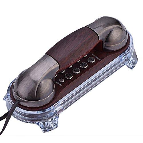 VBESTLIFE Retro Telefono Telefoni Antichi Flash 1PC Muro Adesivo Caller Phone Wall Mounted con Retroilluminazione Blu