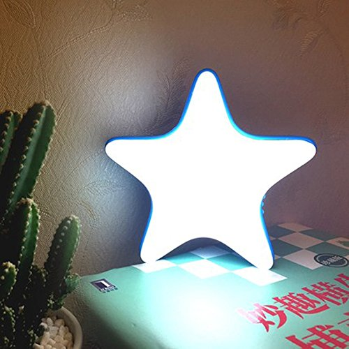 Homieco USB Mini Veilleuse de Bébé Contrôle Tactile Tranquille étoile Lampe de Nuit 3D Lune Lamp Déco pour Maison Salon Enfants Chambre