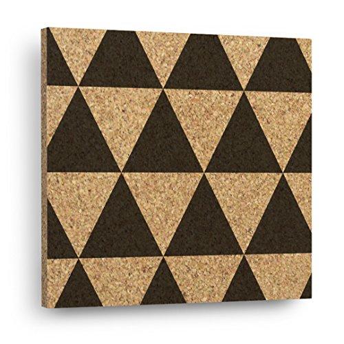 TRIANGLE PATTERN Mix & Match Cork Decor Art Tiles Or Kitchen Trivet - Wall DéCork