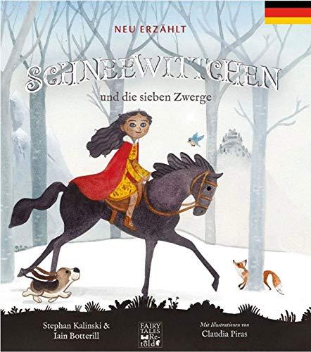 Gebrüder Grimms Märchen Schneewittchen und die 7 Zwerge – Märchenbuch für Kinder 4-8 Jahre neu Erzählt und Toll Illustriert - Deutsch