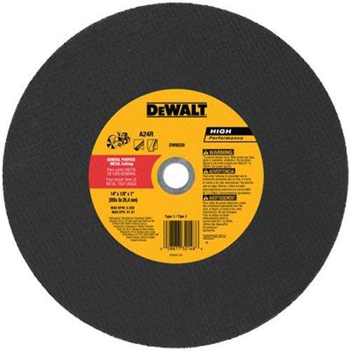 DEWALT DW8020 Metal Port Saw Cut-Off Wheel, 14-Inch X 1/8-Inch X 1-Inch