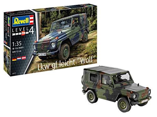 Revell 03277 LKW gl leicht Wolf originalgetreuer Modellbausatz für Fortgeschrittene, Mehrfarbig, 1/35