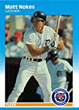 1987 Fleer Update Baseball Card #U-90 Matt Nokes RC Rookie Card Detroit Tigers Official MLB Trading Card. rookie card picture