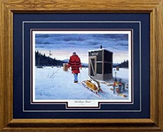 Peck and Gartner Les Kouba Darkhouse Finale Art Print Framed 21
