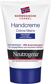 Neutrogena Norwegische Formel Handcreme parfümiert, pflegende und schützende Feuchtigkeitscreme für trockene und rissige Hände 1 x 50 ml