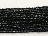 LOVEKUSH 50% Off Gemstone Jewellery 1 Strand Natural Black Tourmaline Plain Rondelles, Smooth Black Round Balls, Black Tourmaline Necklace, 3.5mm 12' Long Code:- RADE-15792