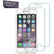 Nutmix iPhone 8 Panzerglas Schutzfolie,[2 Stück] 9H Hartglas, Anti Öl, Anti-Fingerabdruck, Anti-Kratzer,Einfache Installation,HD Displayschutzfolie, für apple iPhone 8 / 7 / 6 /6s