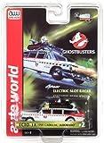 Auto World 4Gear Ghostbusters Ecto 1a 1959 Cadillac Ambulance HO Scale Slot Car