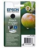 Epson Cartucho T1291 - Cartucho de Tinta, Negro Válido para los Modelos Epson Workforce, Epson Stylus, Epson Stylus Office y Otros, Ya Disponible en Amazon Dash Replenishment, Normal