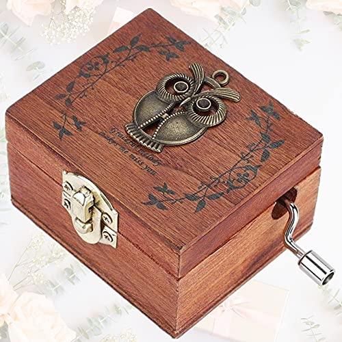 Wytino Carillon a manovella, manovella in Legno Carillon Regalo Meccanico Classico...