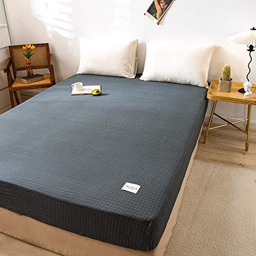 FJMLAY Sábanas de Cama Transpirable,Sábanas Ajustables de algodón, Protector Antideslizante para tapete para Dormitorio Apartment-T_150cmx200cm