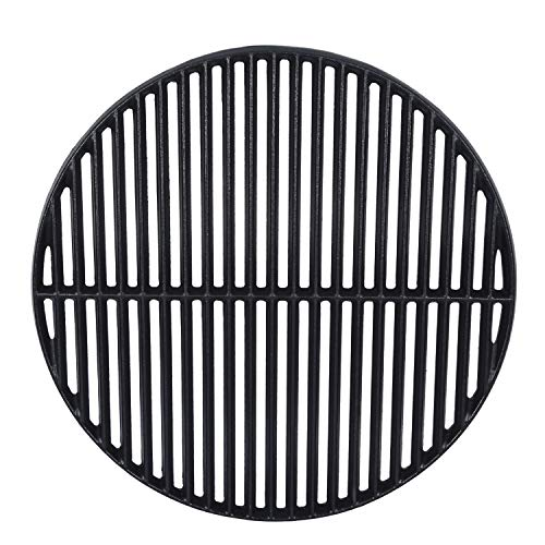GasSaf 18 3/16' Cast Iron Cooking Grate Replacement for Large Big Green Egg, Kamado Joe Classic, Vision Grill VGKSS-CC2, B-11N1A1-Y2A