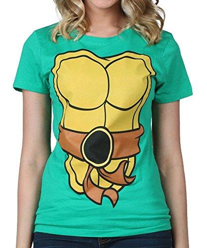 TMNT Teenage Mutant Ninja Turtles grün Kostüm Junior T-Shirt (Large)