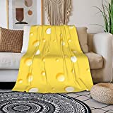 COWKOW Soft & Warm Cheese Blanket Bed Couch Throw Blankets for Home Bedroom Decor Personalized Blanket for Adults Kids Black 60'X50'