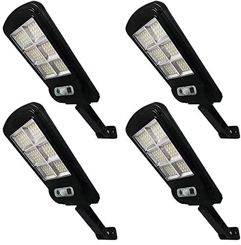 Solar Street Light 4Pack Remote Control Solar Parking Lot Light 96 LED IP65 Outdoor Motion Sensor Solar Security Light with 3 Lighting Modes for Garden Street Deck Patio Path