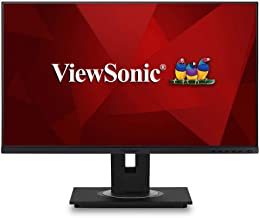 ViewSonic VG2455-2K 24 Inch IPS 1440p Monitor with USB 3.1 Type C HDMI DisplayPort and 40 Degree Tilt Ergonomics for Home and Office