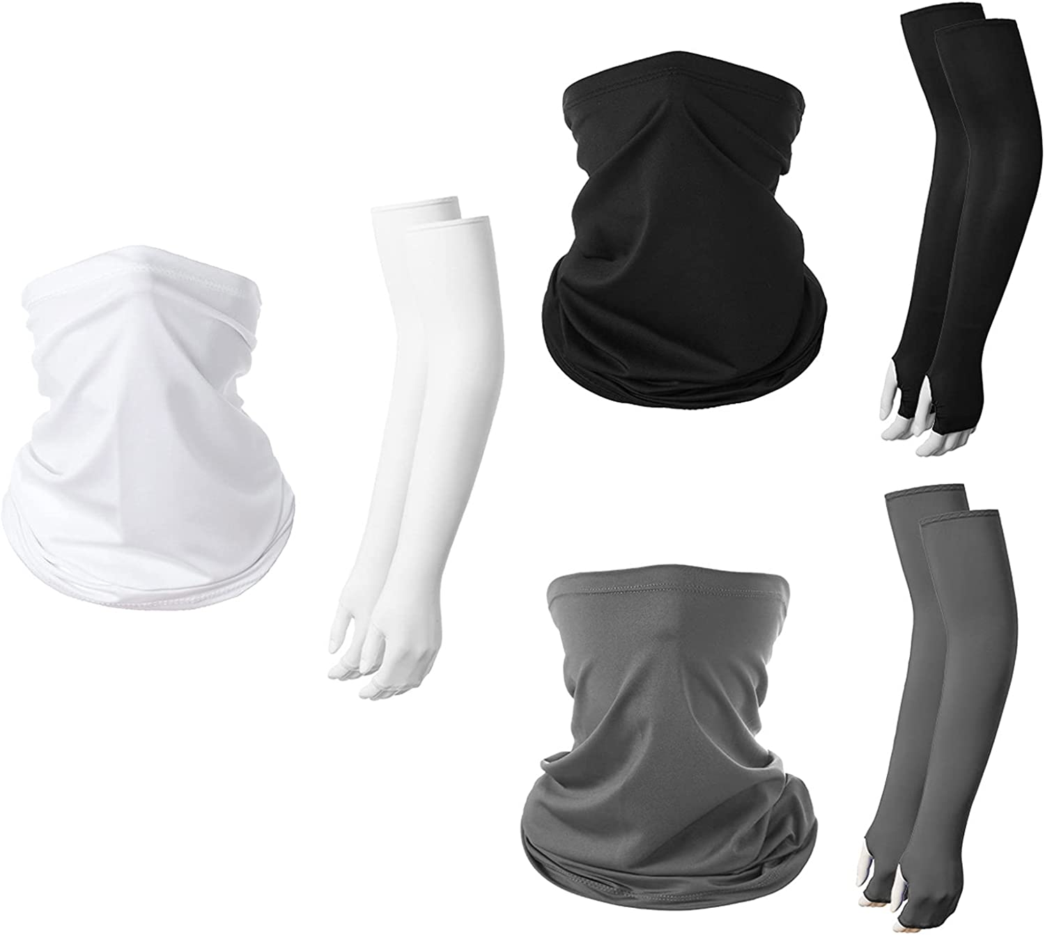 3 Sets UV Sun Protection Arm Covering with Product Bandana Face Sleeves New arrival