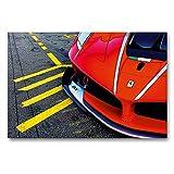 CALVENDO Premium Textil-Leinwand 90 x 60 cm Quer-Format Ferrari Fxx auf der Rennstrecke, Leinwanddruck von Stefan BAU