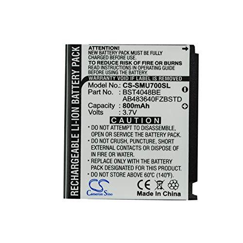 cellePhone Akku Li-Ion kompatibel mit Samsung GT-S5230 Star - SGH-A501 A801 G800 L870 U700 Z370 Z720 Z728 (Ersatz für AB603443CE)
