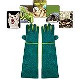 PeSandy Tierhandhaber-Handschuhe, bissfest, langlebig, bissfeste Handschuhe zum Baden, Pflegen, Umgang mit Hund/Katze/Vogel/Schlange / Papagei/Eidechse/Reptilien – Kratz-/bissfeste Schutzhandschuhe