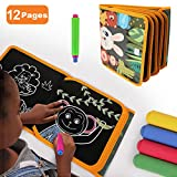 TUMAMA Portable Drawing Board for Travel, Dust-Free Chalk Doodle Board Book...