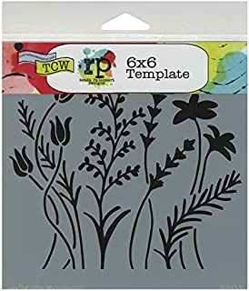 CRAFTERS WORKSHOP TCW6X6-433 Bible Journaling Stencil - Wildflowers (6