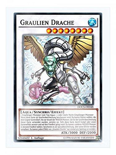 DOCS-DE048 Graulien Drache 1. Auflage im Set mit original Gwindi Kartenschutzhülle