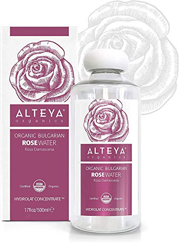 Alteya Organic Bulgarian Rose Water, Extra Large, 17 fl.oz / 500ml - 100% Pure, USDA Certified Organic